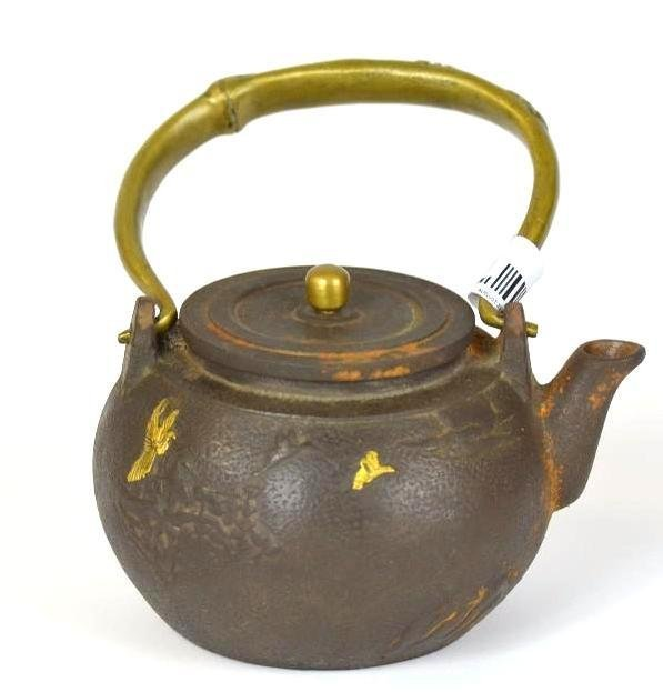 Japanese Cast Iron& Bronze Tea Pot - 3