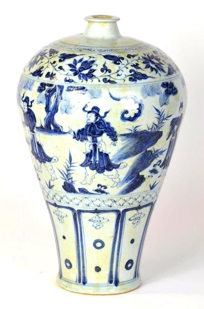 Chinese Blue & White Porcelain Meiping