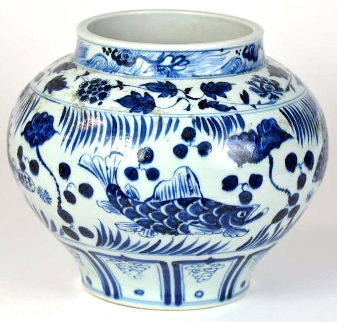 Chinese Blue & White Porcelain Vaes