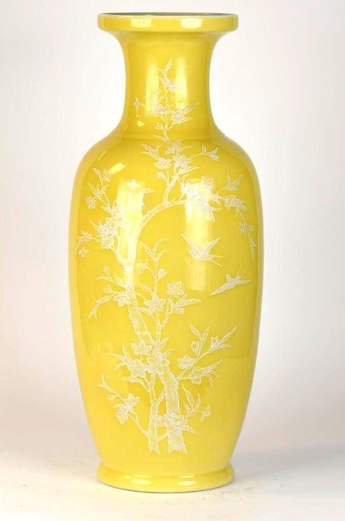 Large Chinese Yellow Glaze Porcelain Vase