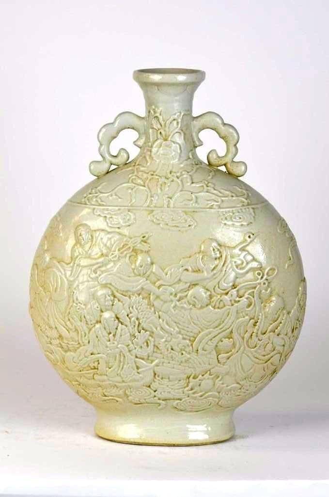 Chinese White Glaze Porcelain Moonflask