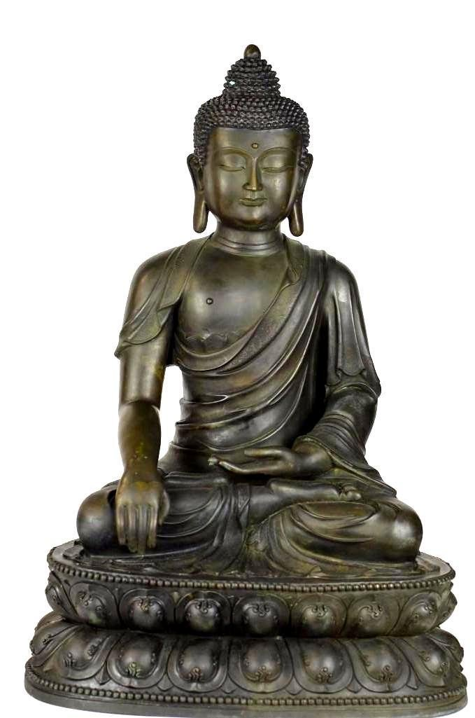 Chinese Bronze Seated Buddha