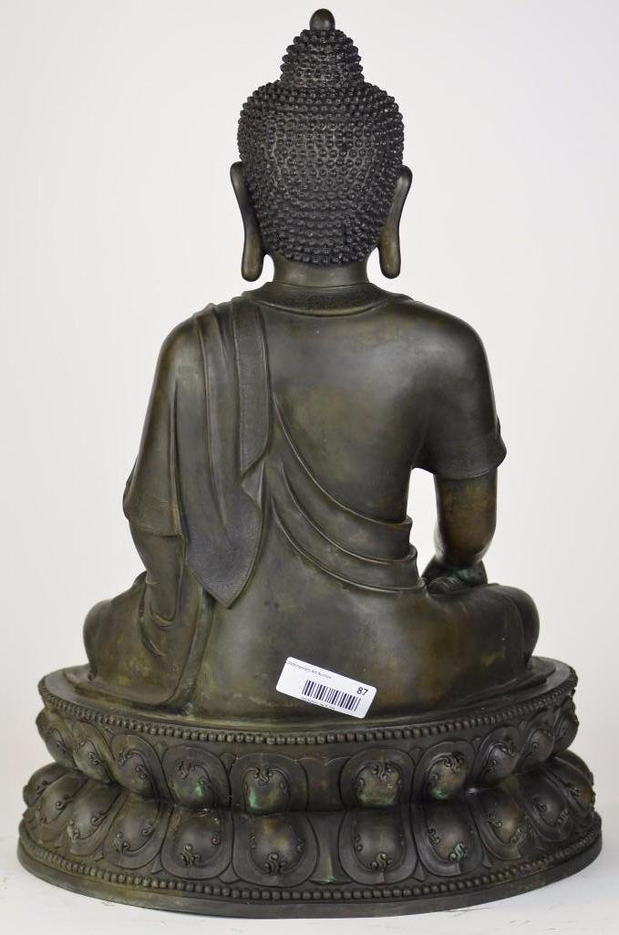 Chinese Bronze Seated Buddha - 8