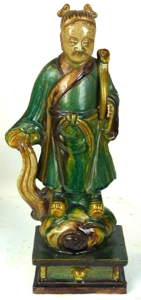 Chinese Sancai Glaze Standing Lohan