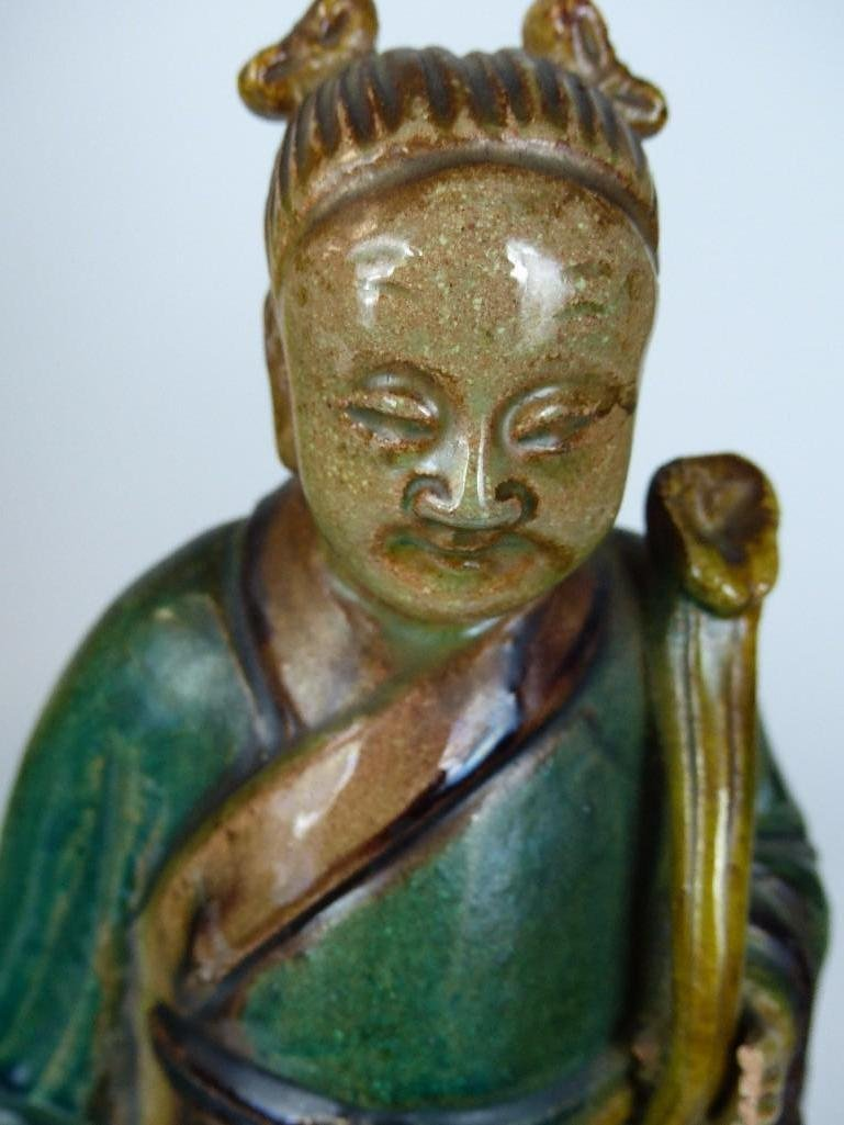 Chinese Sancai Glaze Standing Lohan - 2