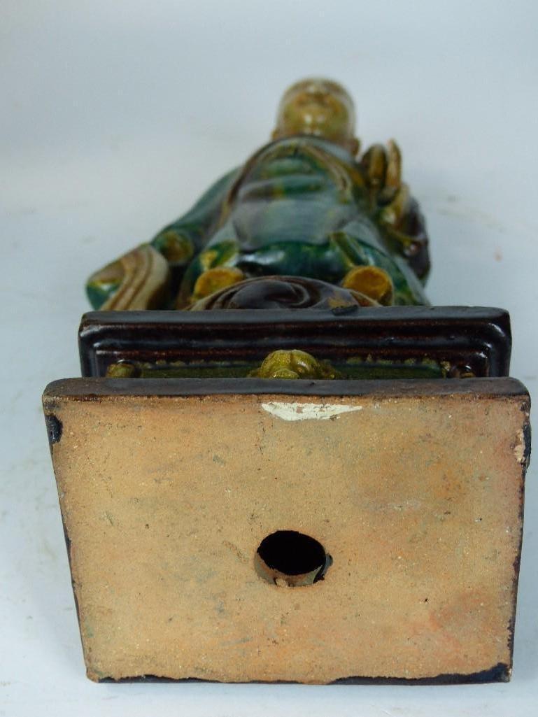 Chinese Sancai Glaze Standing Lohan - 7