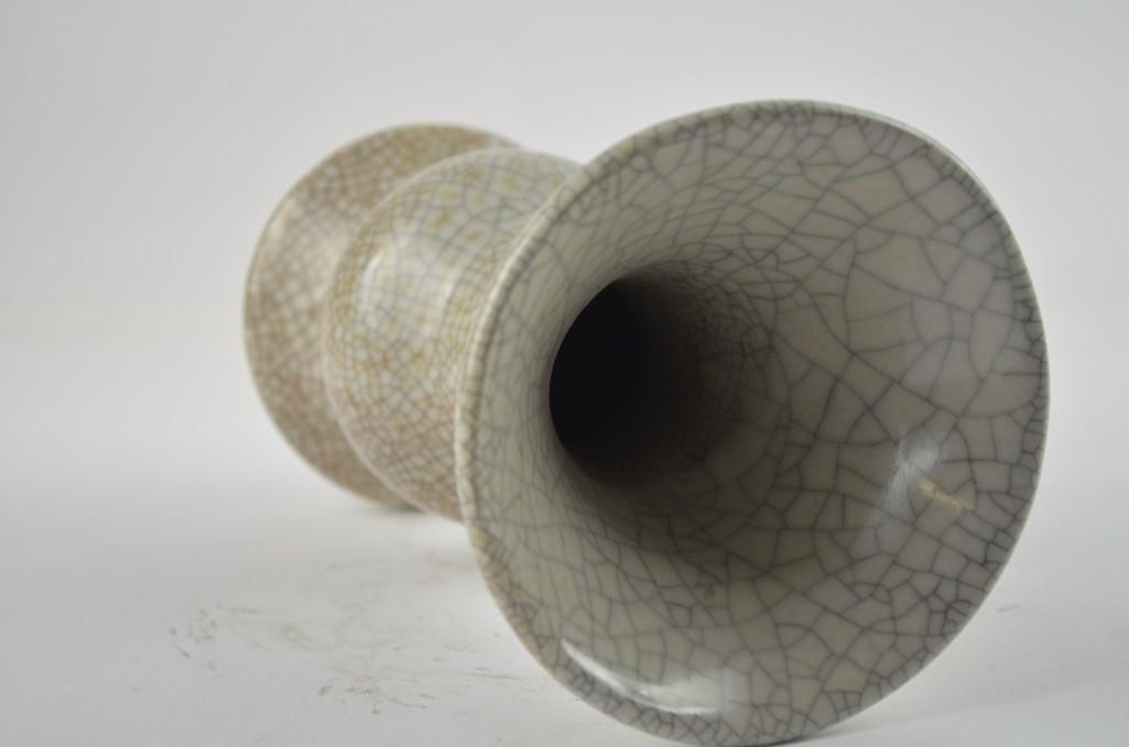Chinese Crackle Glaze Vase - 8