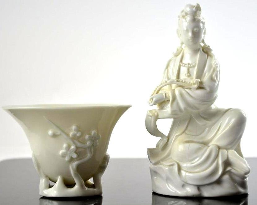 Two Chinese Blanc De Chine Items