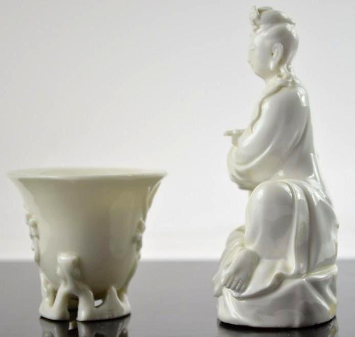 Two Chinese Blanc De Chine Items - 2