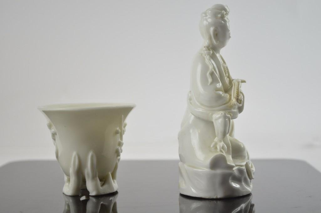 Two Chinese Blanc De Chine Items - 4