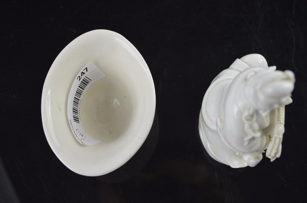 Two Chinese Blanc De Chine Items - 5