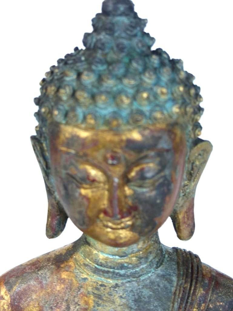 Chinese Bronze seated Buddha - 2