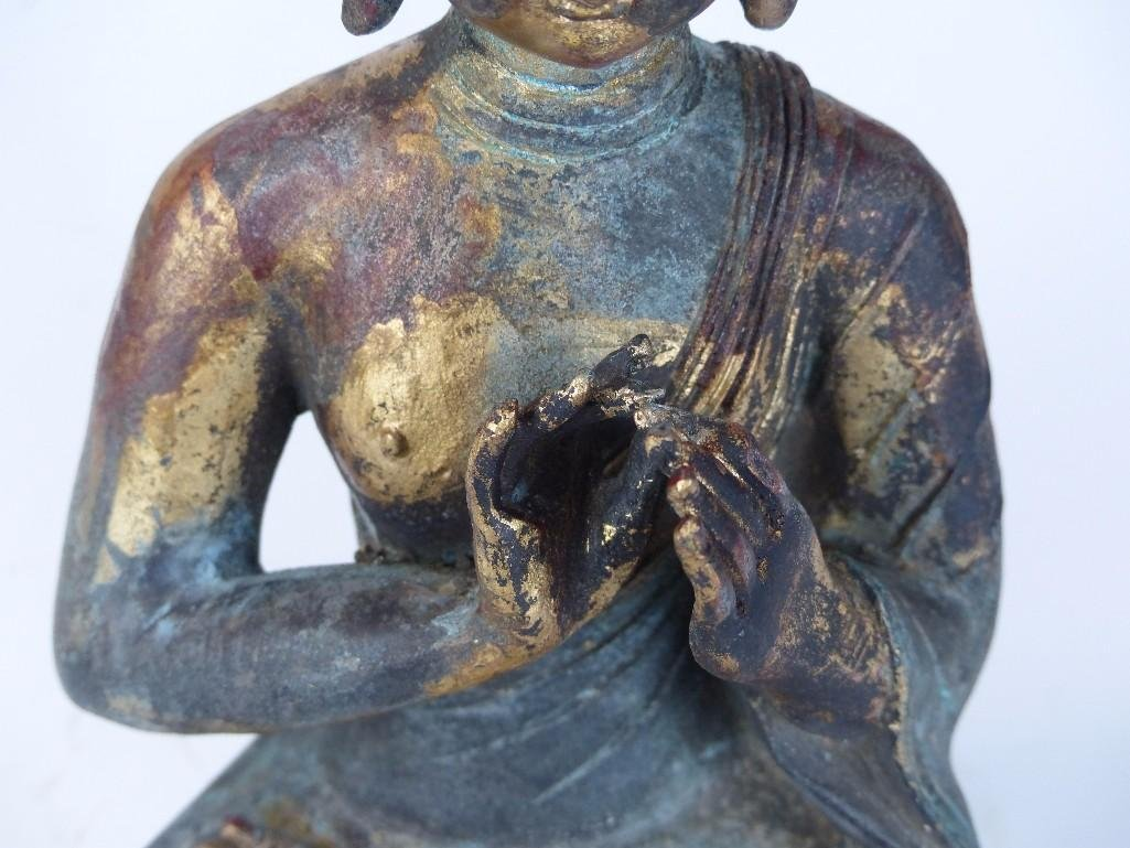 Chinese Bronze seated Buddha - 3