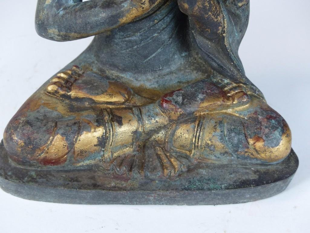 Chinese Bronze seated Buddha - 4