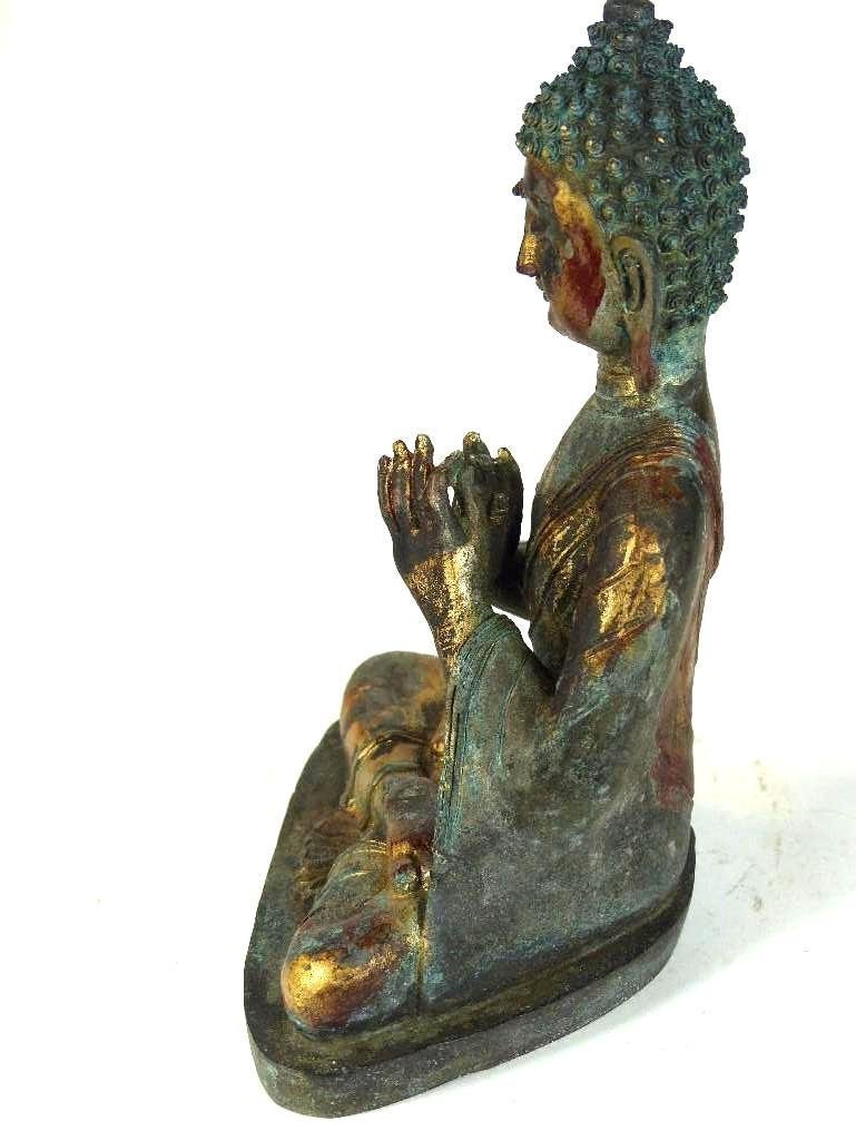 Chinese Bronze seated Buddha - 5