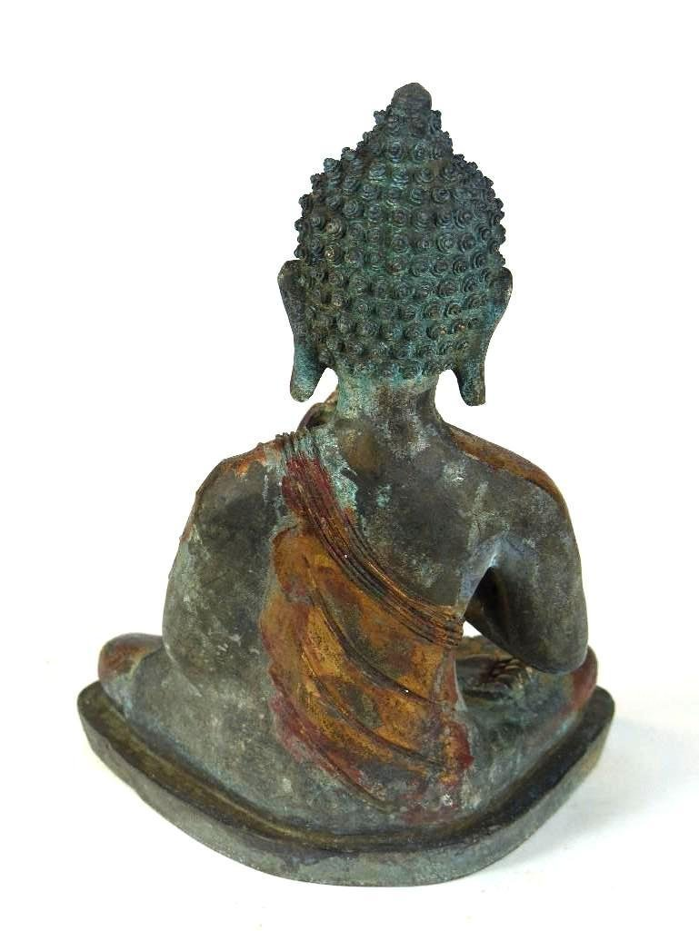 Chinese Bronze seated Buddha - 6