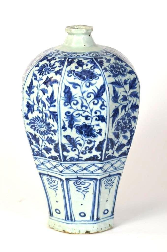 Chinese Blue & White Meiping