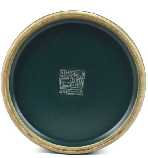 Chinese Teal Green Brush Pot - 5