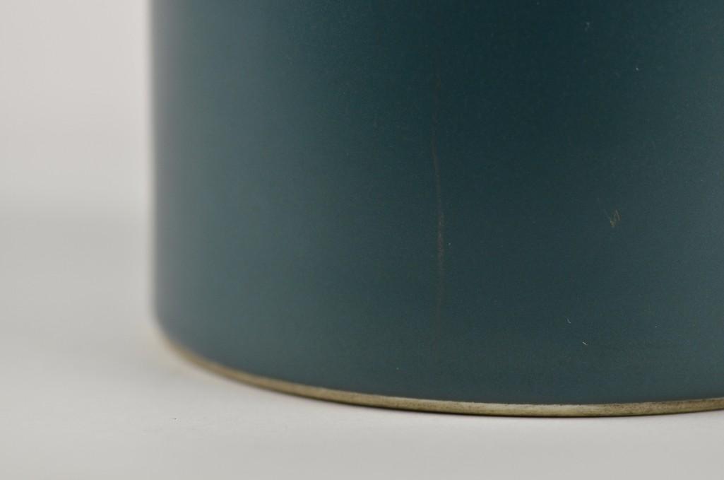 Chinese Teal Green Brush Pot - 7