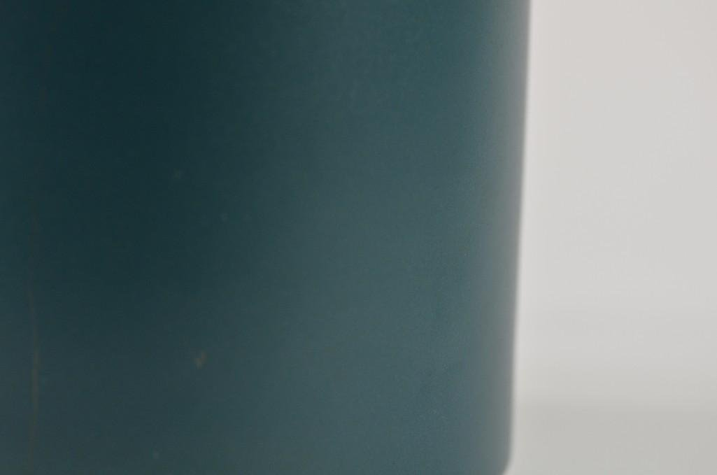 Chinese Teal Green Brush Pot - 8