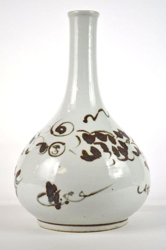 Korean Underglaze copper Red vase