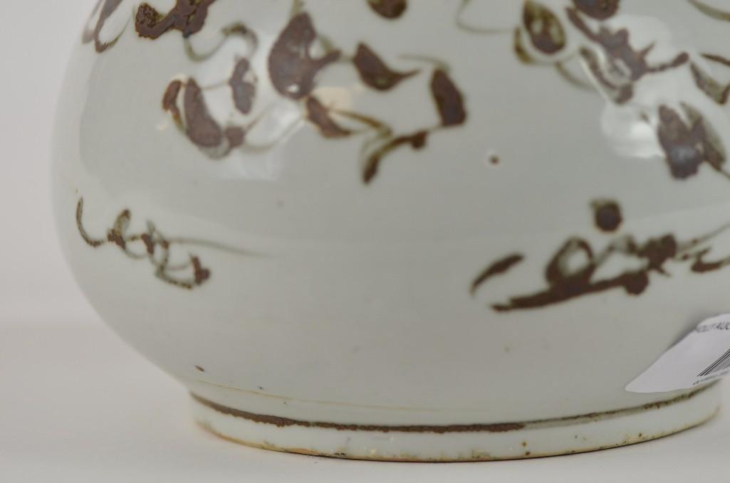 Korean Underglaze copper Red vase - 6
