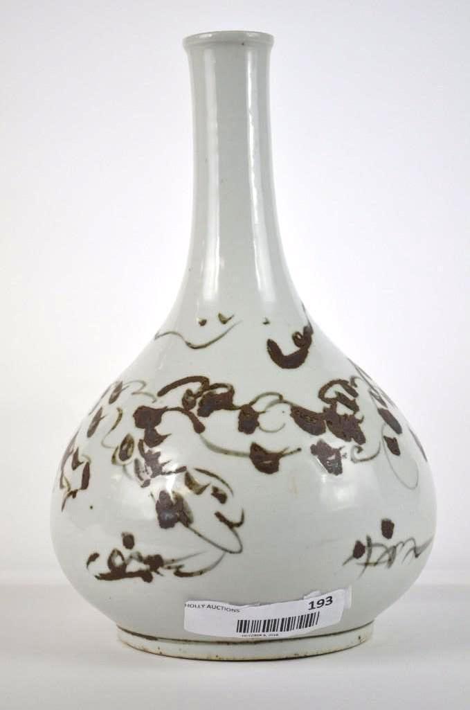 Korean Underglaze copper Red vase - 7