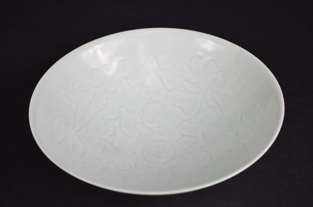 Chinese White Glaze Bowl with Incised Decoration