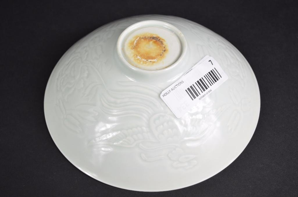Chinese White Glaze Bowl with Incised Decoration - 5