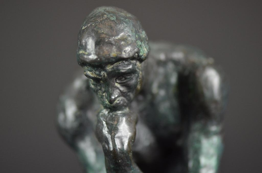 "Bronze Statue after Auguste Rodin ""The Thinker"" - 2"