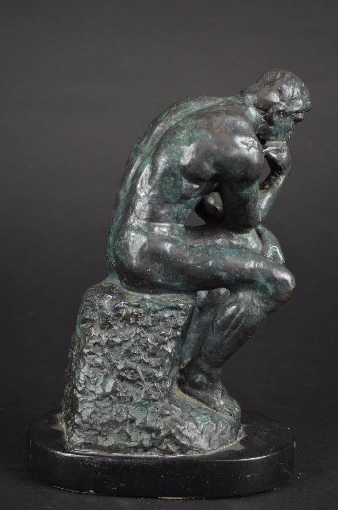 "Bronze Statue after Auguste Rodin ""The Thinker"" - 7"
