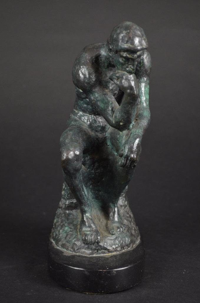 "Bronze Statue after Auguste Rodin ""The Thinker"" - 8"