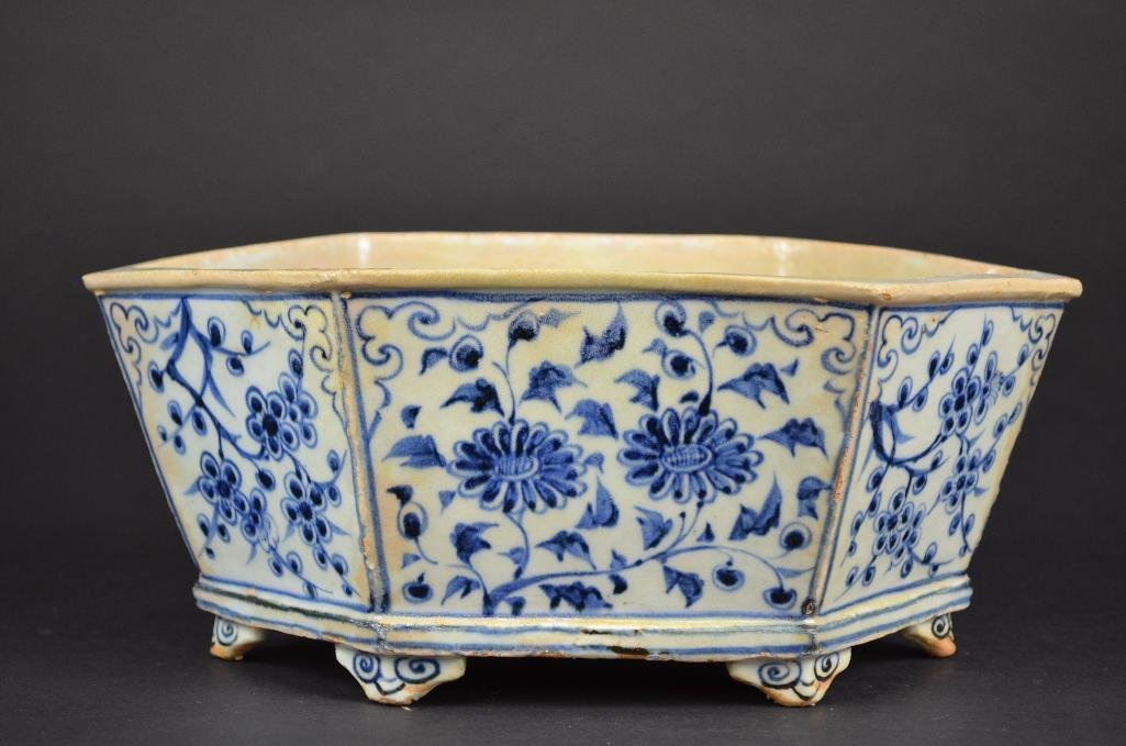 Chinese Blue & White Planter - 3