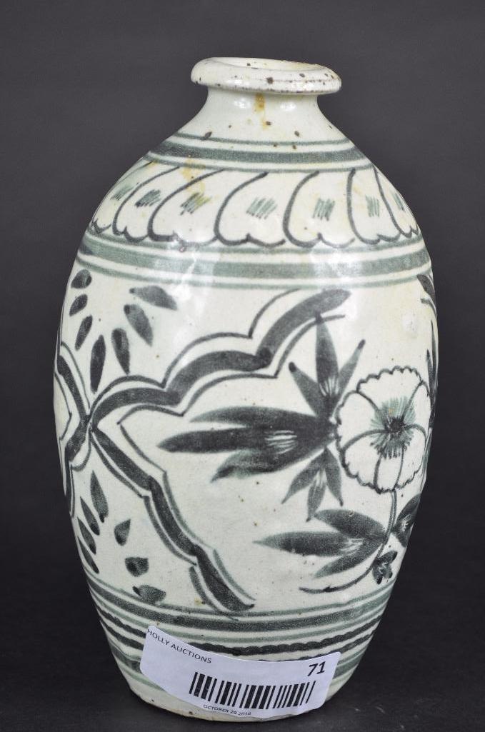Korean underglaze Blue Vase - 10