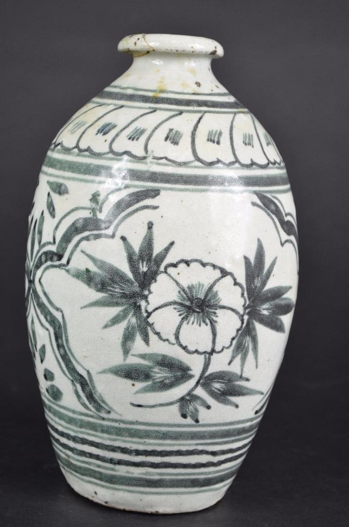 Korean underglaze Blue Vase - 3
