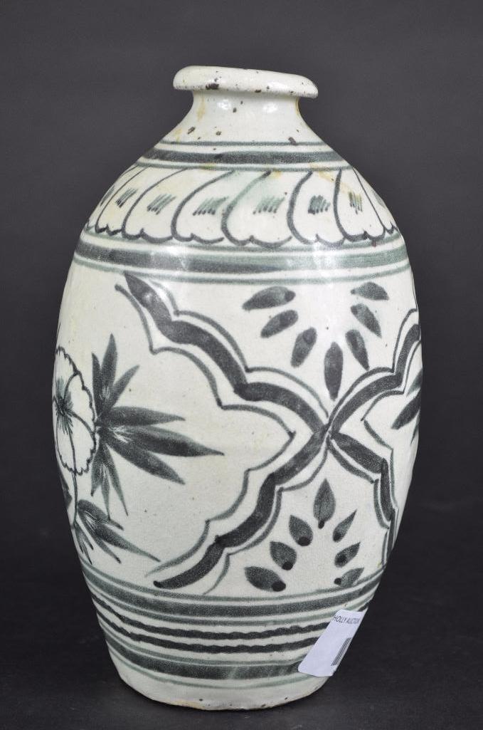 Korean underglaze Blue Vase - 4