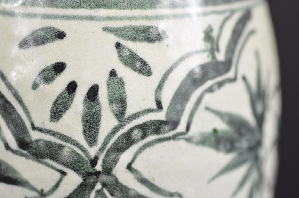 Korean underglaze Blue Vase - 8