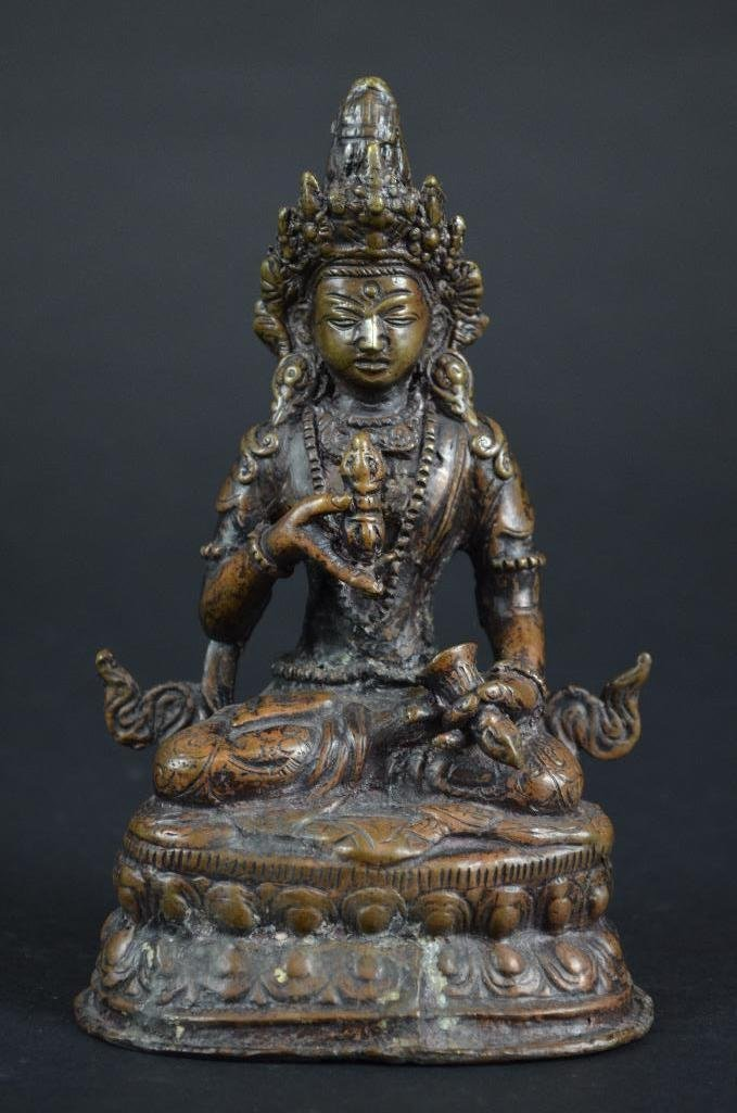 Chinese Bronze Seated Guan Yin