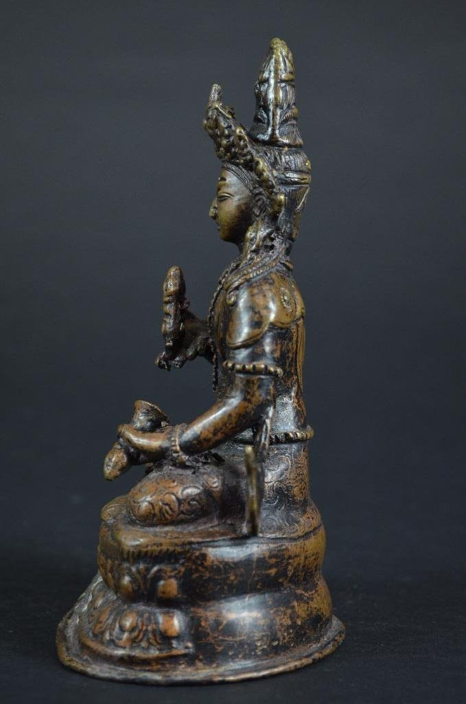 Chinese Bronze Seated Guan Yin - 2