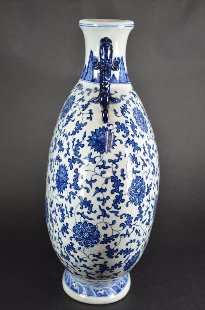 Large Chinese Blue & White Moonflask - 2