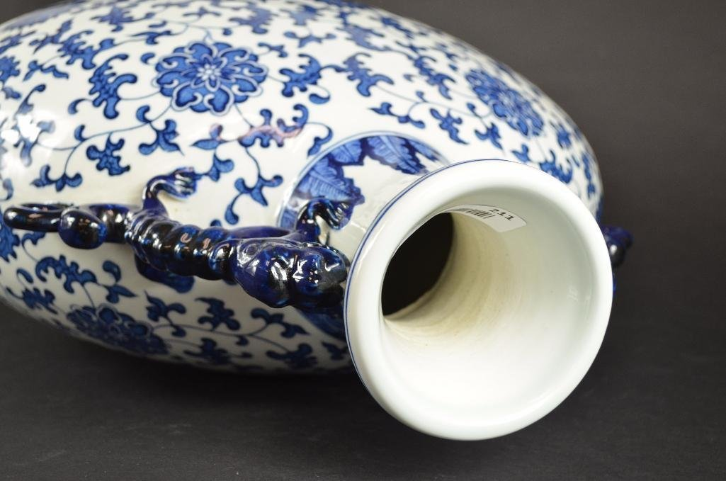 Large Chinese Blue & White Moonflask - 7