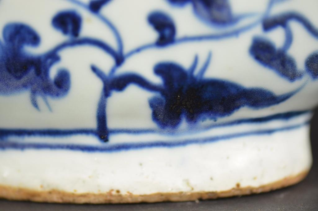 Chinese Blue & White Dragon Shape Teapot - 9