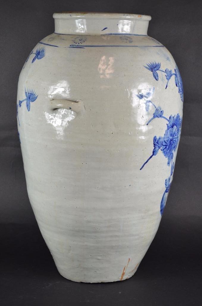 Large Korean Underglaze Blue Vase