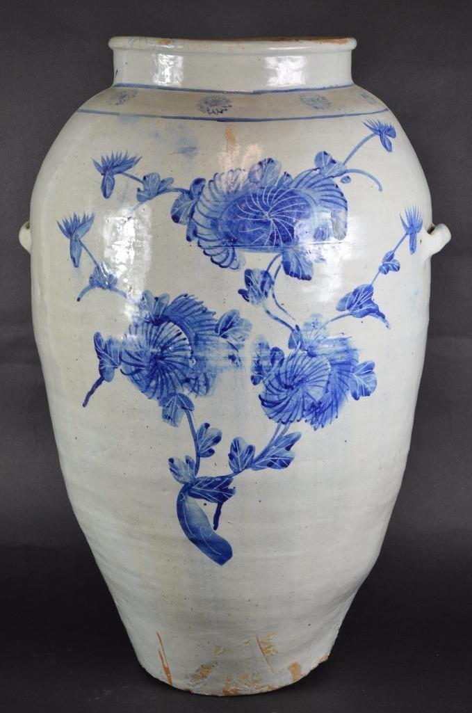 Large Korean Underglaze Blue Vase - 2