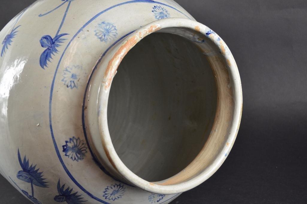 Large Korean Underglaze Blue Vase - 5