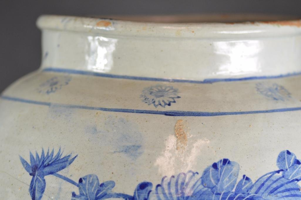 Large Korean Underglaze Blue Vase - 7