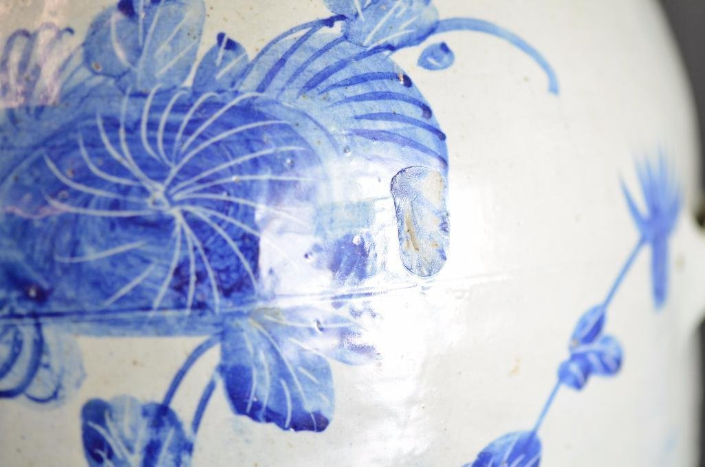 Large Korean Underglaze Blue Vase - 8