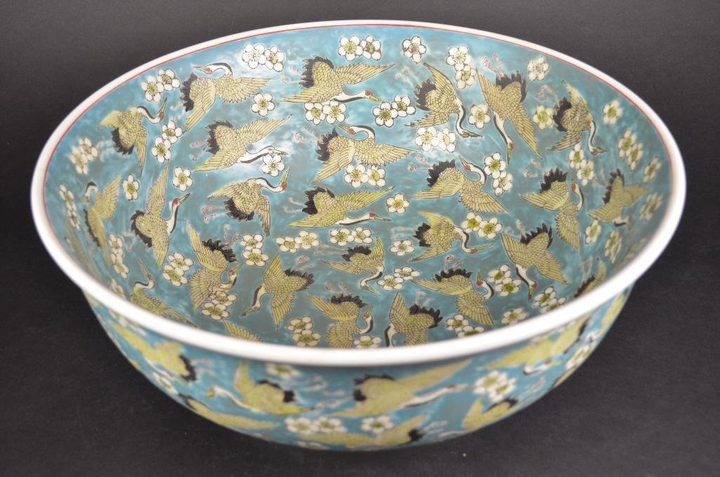 Chinese Pale Blue Ground Porcelain Bowl - 10