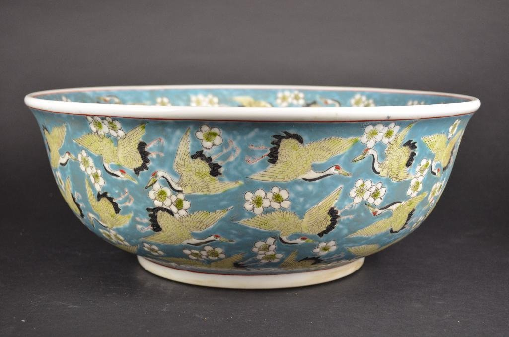 Chinese Pale Blue Ground Porcelain Bowl - 3