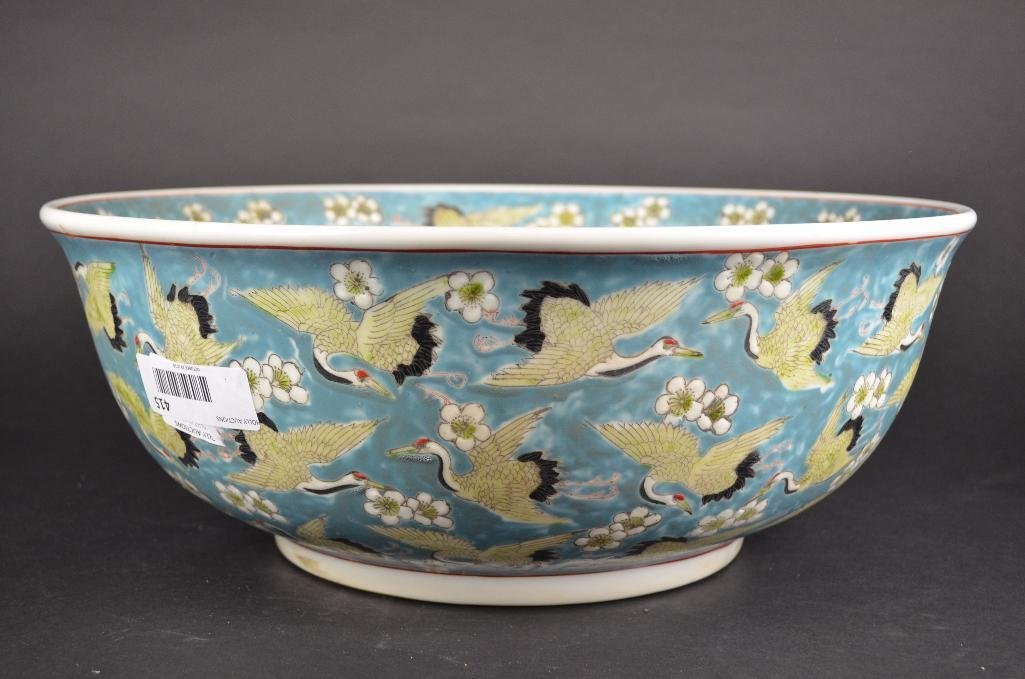 Chinese Pale Blue Ground Porcelain Bowl - 5